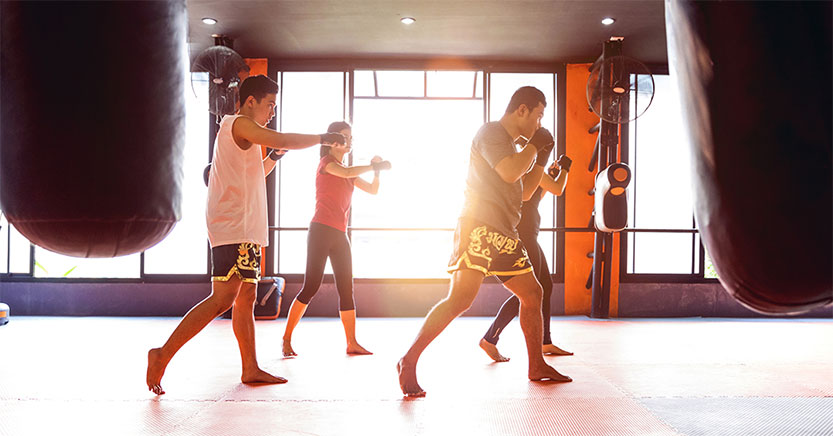 Photo of group cardio kickboxing